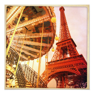 Eiffel Tower and Carrousel Card