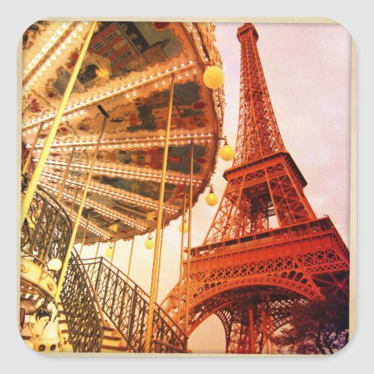 Eiffel Tower and Carrousel Square Sticker