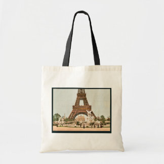 Eiffel Tower and fountain Exposition Universal 1 Canvas Bags
