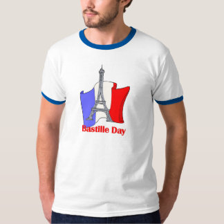 Eiffel Tower and French Flag Bastille Day Tees