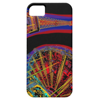 Eiffel Tower and Merry-Go-Round iPhone SE/5/5s Case