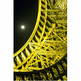Eiffel tower and moon, Paris, France Cutout