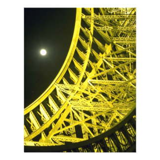 Eiffel tower and moon, Paris, France Flyer