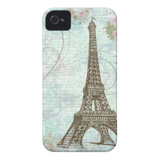 Eiffel Tower and Pink Roses Case-Mate iPhone 4 Case