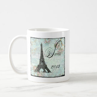 Eiffel Tower and Pink Roses Paris Coffee Mug