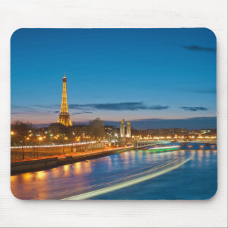 Eiffel Tower and Pont Alexandre III at Night Mouse Pad