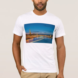 Eiffel Tower and Pont Alexandre III at Night T-Shirt
