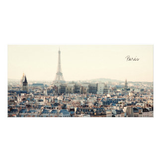 Eiffel Tower and roofs of Paris Card