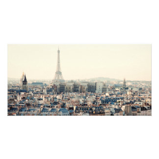Eiffel Tower and roofs of Paris Custom Photo Card
