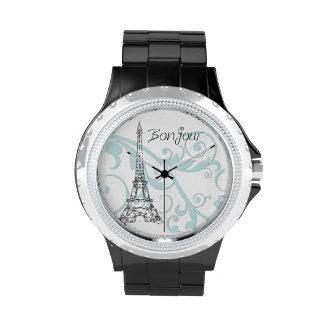 Eiffel Tower and Scrolls Wrist Watch