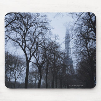Eiffel tower and trees, Paris, France Mouse Pad