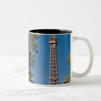 Eiffel Tower and trees, Paris, france Two-Tone Coffee Mug