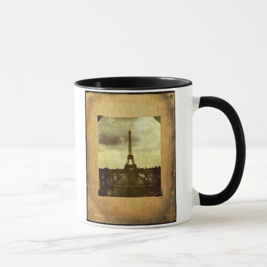 Eiffel Tower Antiqued Scrapbook Page Mug
