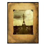 Eiffel Tower Antiqued Scrapbook Page Post Card