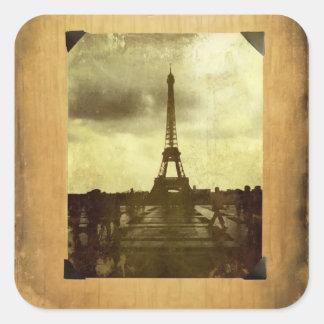 Eiffel Tower Antiqued Scrapbook Page Sticker