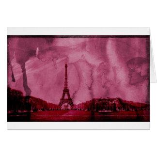 Eiffel tower art card
