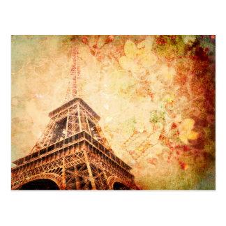 Eiffel Tower Art Post Card in Neutral Tones