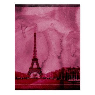 Eiffel tower art postcard