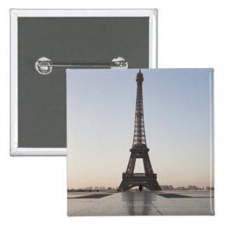 Eiffel Tower at dusk, Paris, Ile-de-France, Button