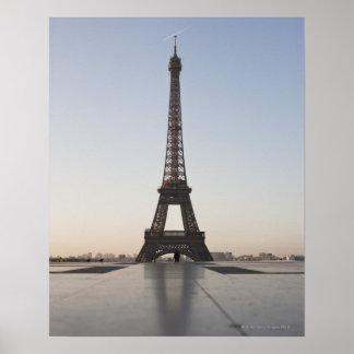 Eiffel Tower at dusk, Paris, Ile-de-France, Poster