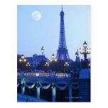Eiffel Tower at Dusk Postcards