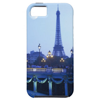 Eiffel tower at dusk with moonrise iPhone SE/5/5s case