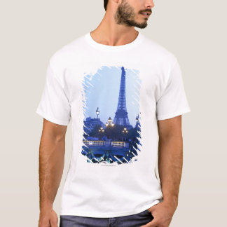 Eiffel tower at dusk with moonrise T-Shirt