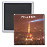 EIFFEL TOWER, AT NIGHT 2 INCH SQUARE MAGNET