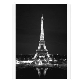 Eiffel Tower at Night - B/W Flyer