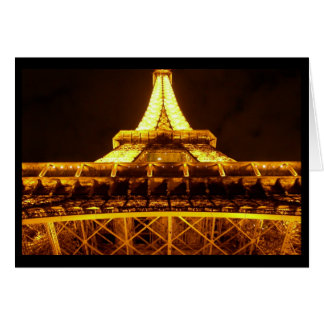 Eiffel Tower at Night (Blank) Stationery Note Card