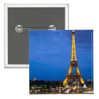 Eiffel Tower at Night Button