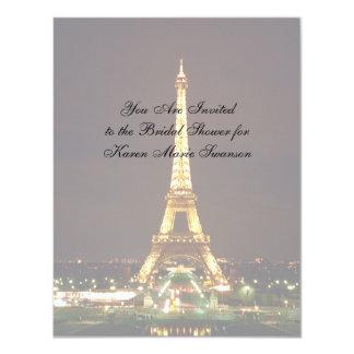 Eiffel Tower at Night Card