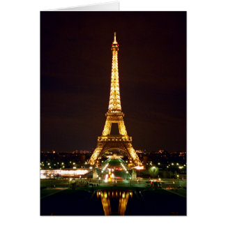 Eiffel Tower at Night - Color Card