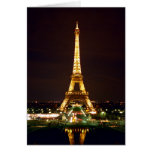 Eiffel Tower at Night - Color Greeting Card