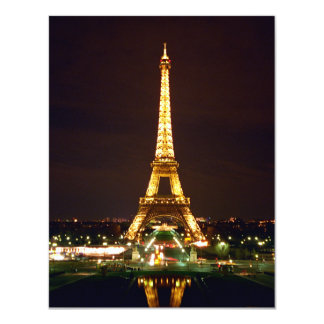 Eiffel Tower at Night - Color Invite