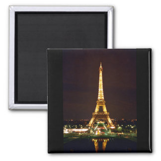 Eiffel Tower at Night - Color Refrigerator Magnet