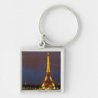 Eiffel Tower at Night Keychain
