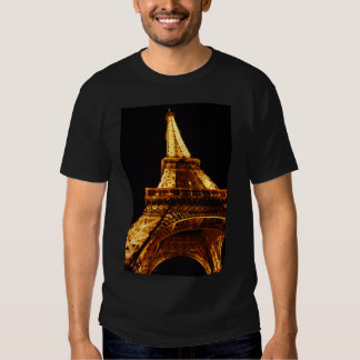 Eiffel Tower At Night Looking Up T-shirt