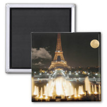 Eiffel Tower at Night Magnet
