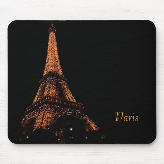 eiffel tower at night, Paris Mouse Pad