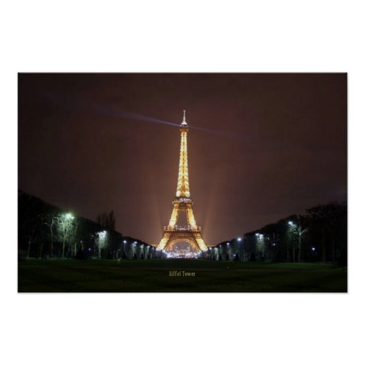 Eiffel Tower at Night Posters