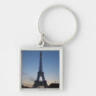 Eiffel Tower at sundown Keychain