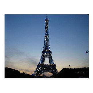Eiffel Tower at Sundown Postcard