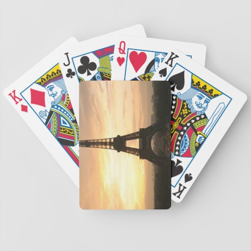 Eiffel Tower at Sunrise from the Trocadero Bicycle Playing Cards