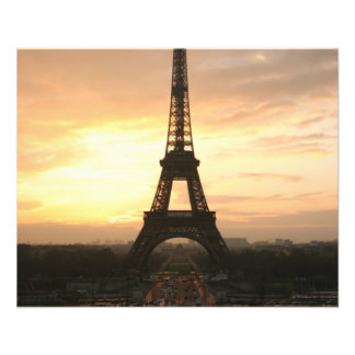 Eiffel Tower at Sunrise from the Trocadero Flyer