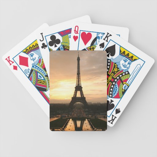 Eiffel Tower at Sunrise from the Trocadero Bicycle Poker Cards