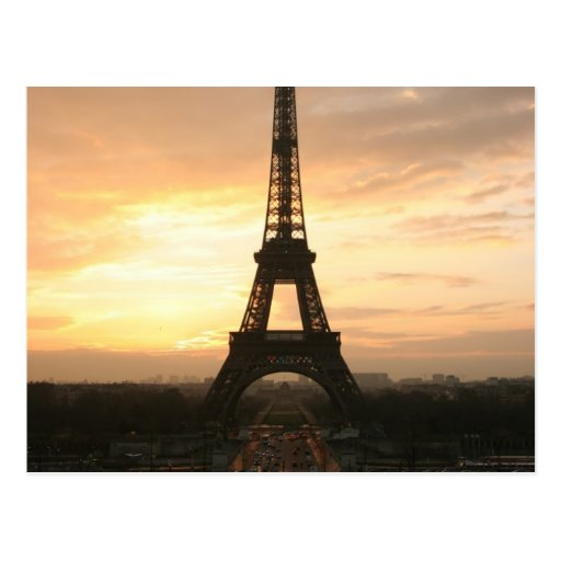 Eiffel Tower at Sunrise from the Trocadero Postcard