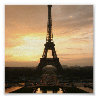 Eiffel Tower at Sunrise from the Trocadero Poster