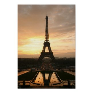 Eiffel Tower at Sunrise from the Trocadero Print