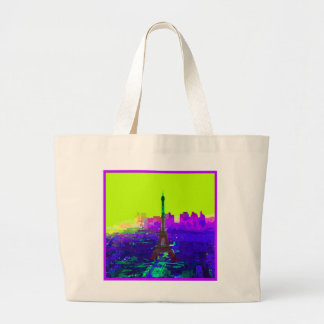 Eiffel Tower at Sunrise Large Tote Bag